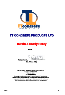 Downloads Health & Safety Policy Statement