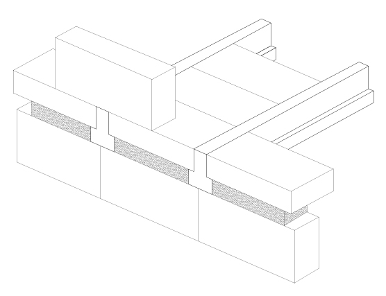 Coursing/Slip Brick - Concrete Beam accessories