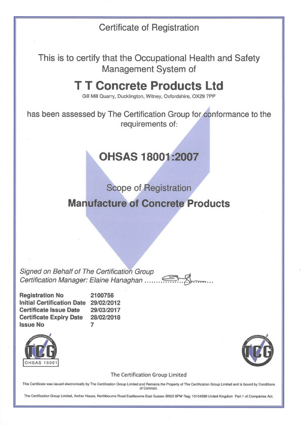 Downloads OHSAS 18001 Certificate