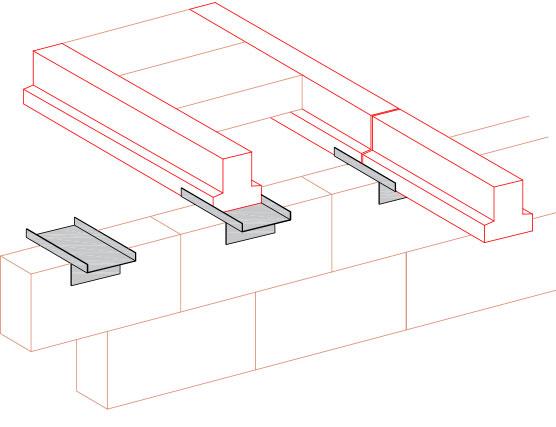 Butt Bearing Plate - Concrete Beam accessories
