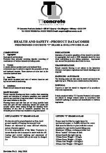 COSHH Data Sheet