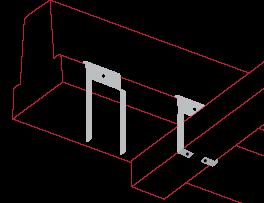 Ceiling Clip - Concrete Beam accessories