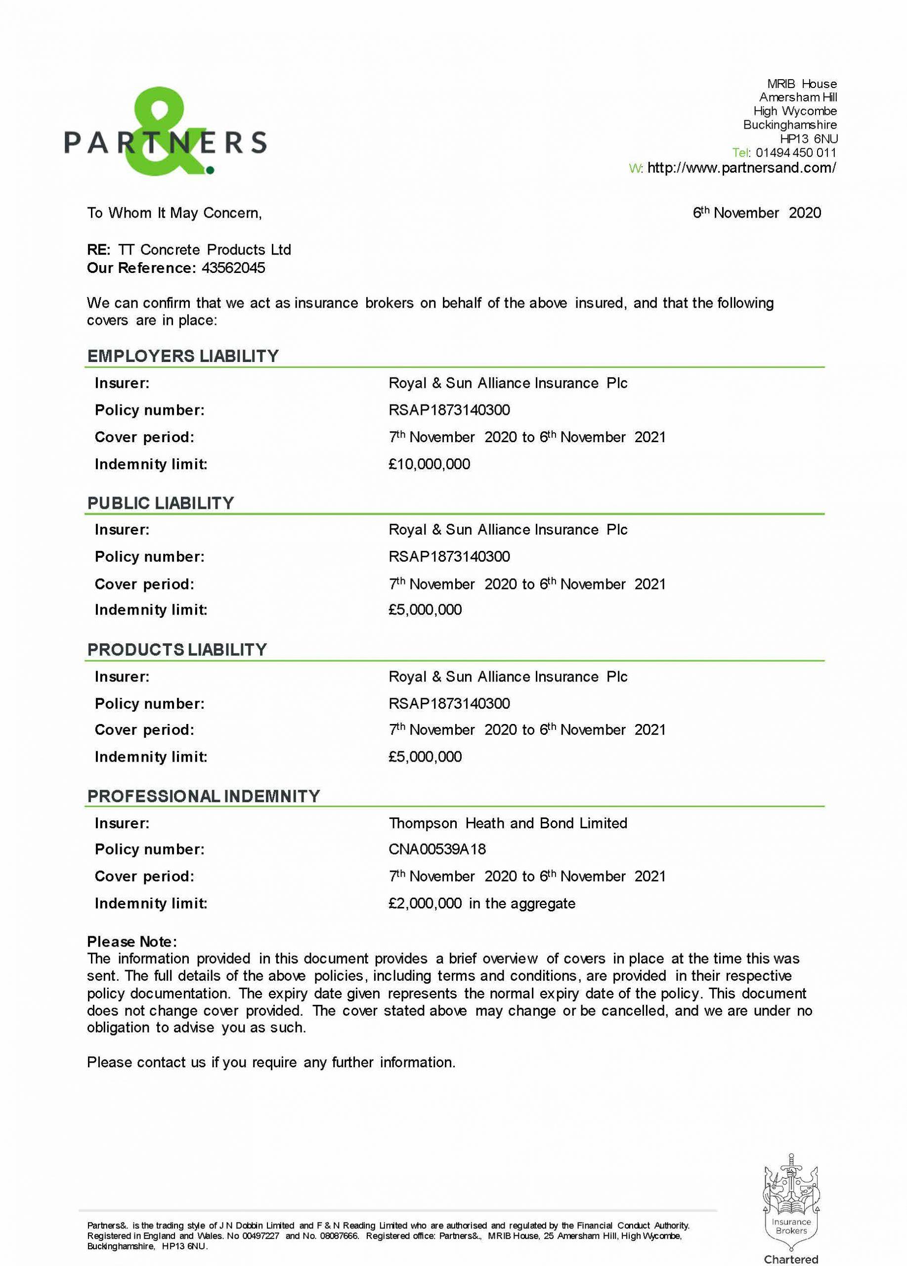 Insurance Certificates